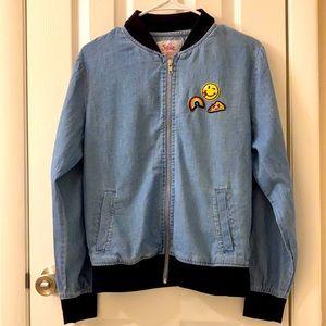 5/$25 Justice lightweight zip jean jacket, 16-18
